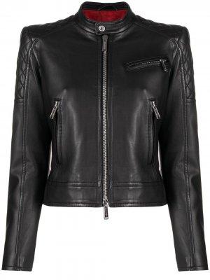Байкерская куртка Dsquared2. Цвет: черный