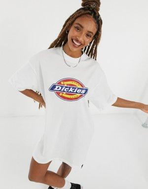 Белое платье-футболка с логотипом Varnell Horsesho-Белый Dickies