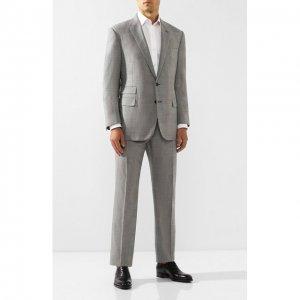 Шерстяной костюм Ralph Lauren. Цвет: серый