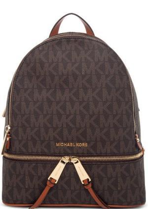 Коричневый рюкзак из искусственной кожи Rhea Zip MICHAEL Kors. Цвет: коричневый