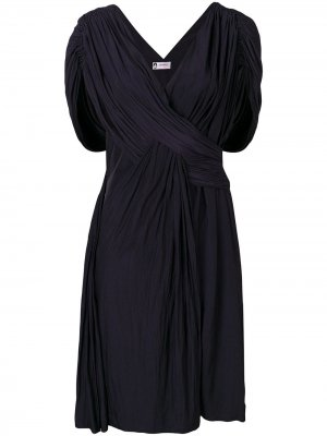 Коктейльное платье с драпировками LANVIN. Цвет: синий