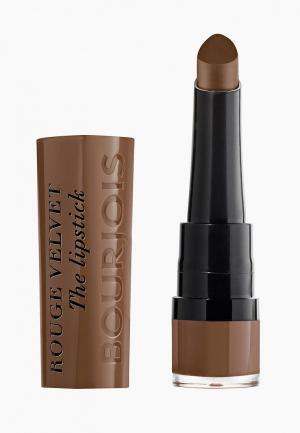 Помада Bourjois Rouge Velvet the Lipstick, 14 Brownette, 2,4 гр. Цвет: коричневый