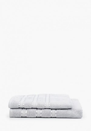 Набор полотенец Эго 2 шт., 50х85 см, 70х135 см. Цвет: серый