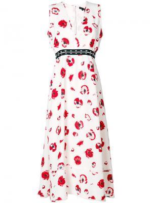 Длинное платье без рукавов с V-образным вырезом Proenza Schouler