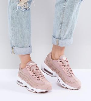 Розовые кроссовки Air Max 95 Nike. Цвет: розовый