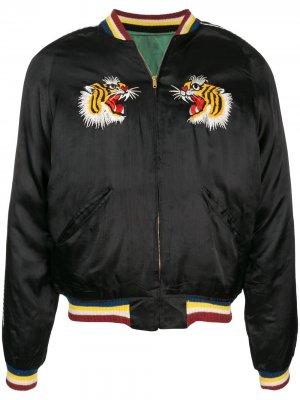 1950s Souvenir bomber jacket Fake Alpha Vintage. Цвет: черный