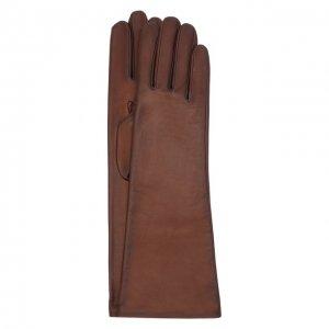 Кожаные перчатки Agnelle. Цвет: коричневый