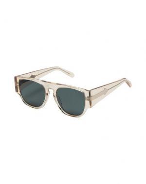Солнечные очки KAREN WALKER. Цвет: бежевый