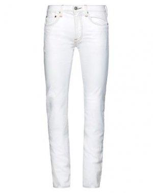 Повседневные брюки HTC. Цвет: белый