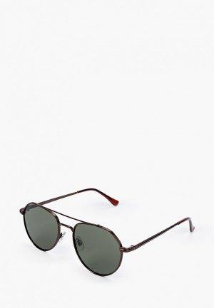 Очки солнцезащитные Jack & Jones. Цвет: бордовый