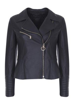 Куртка-косуха кожаная PHILIPP PLEIN