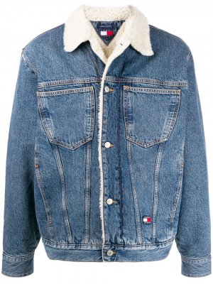 Sherpa-lined denim jacket Tommy Jeans. Цвет: синий