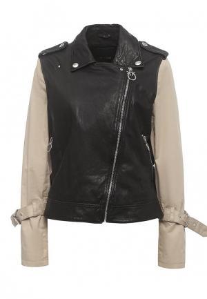 Куртка кожаная Pinko PI754EWOID38. Цвет: черный