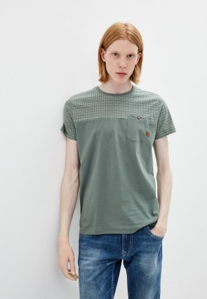Футболка Indicode Jeans. Цвет: зеленый
