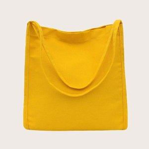 Сумка для покупок большой емкости SHEIN. Цвет: жёлтые