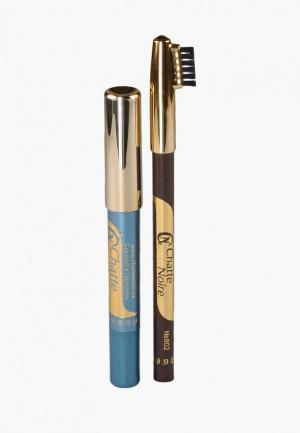 Набор для макияжа бровей Chatte Noire Карандаш + Карандаш-тени №116 3,46. Цвет: разноцветный