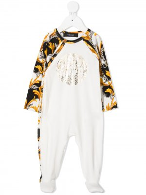 Пижама со вставками и принтом Young Versace. Цвет: белый