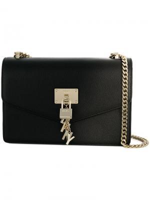 Объемная сумка на плечо Elissa DKNY. Цвет: черный