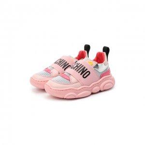 Кроссовки Moschino. Цвет: розовый