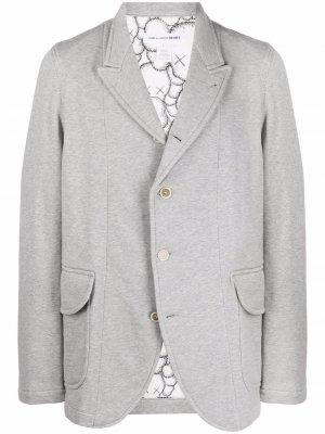 Однобортный пиджак с заостренными лацканами Comme Des Garçons Shirt. Цвет: серый
