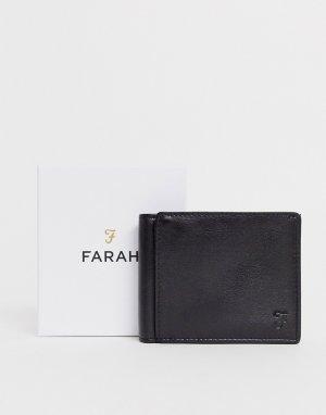 Черный складной бумажник с тиснением cody roma Farah