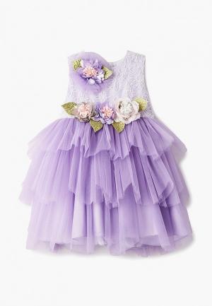 Платье MiLi. Цвет: фиолетовый
