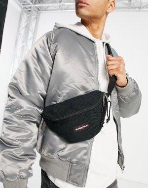 Черная вельветовая сумка-кошелек на пояс Springer-Черный цвет Eastpak