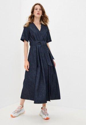 Платье джинсовое Weekend Max Mara LUX. Цвет: синий