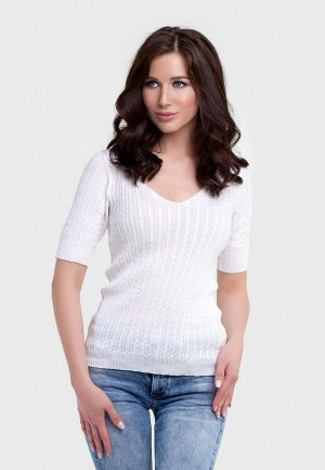 Пуловер Happychoice. Цвет: белый