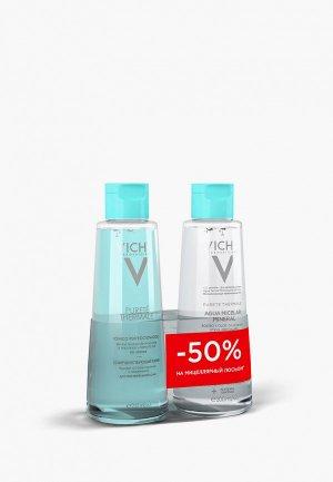 Набор для ухода за лицом Vichy PURETE THERMALE: Совершенствующий тоник, 200 мл + Мицеллярная вода чувствительной кожи, мл. СКИДКА -50% на 2-ой ПРОДУКТ. Цвет: прозрачный