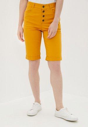 Шорты джинсовые ILD. Цвет: желтый