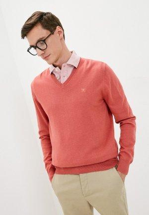 Пуловер Hackett London. Цвет: коралловый