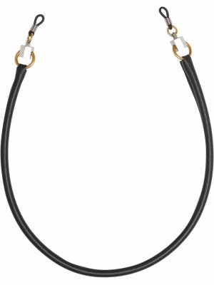 Шнурок для очков с металлическим декором Burberry. Цвет: черный