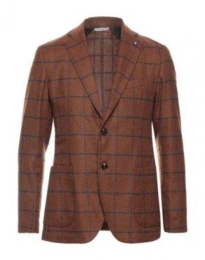 Пиджак EXIGO. Цвет: коричневый