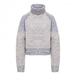 Шерстяной свитер Kenzo. Цвет: голубой
