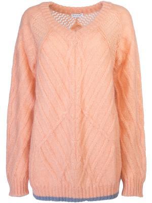 Пуловер свободного силуэта Vionnet. Цвет: оранжевый