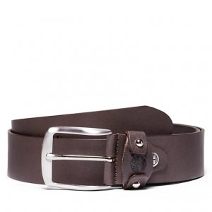 Ремни, пояса Leather Belt 4 cm Timberland. Цвет: темно-коричневый