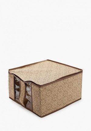 Ящик для хранения Tete-a-Tete Коробка раскладная вещей. Цвет: бежевый