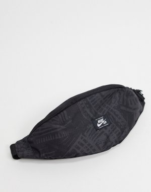 Черная сумка-кошелек на пояс с принтом -Черный Nike SB