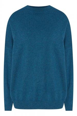 Бирюзовый пуловер Akhmadullina DREAMS. Цвет: голубой