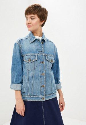 Куртка джинсовая Weekend Max Mara. Цвет: синий