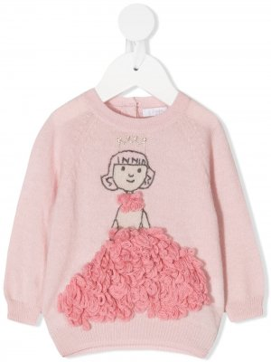 Embroidered princess jumper Il Gufo. Цвет: розовый