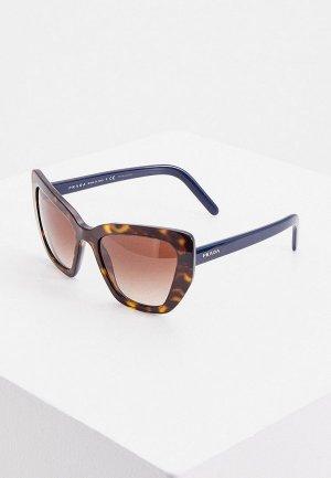 Очки солнцезащитные Prada PR 08VS 2AU6S1. Цвет: коричневый