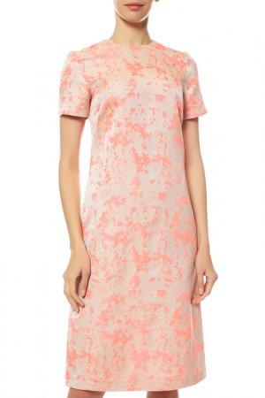 Платье Cyrille Gassiline. Цвет: розовый, мультиколор