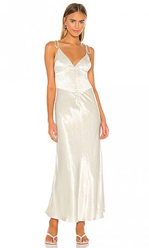 Платье-комбинация zelda Bardot. Цвет: зеленый
