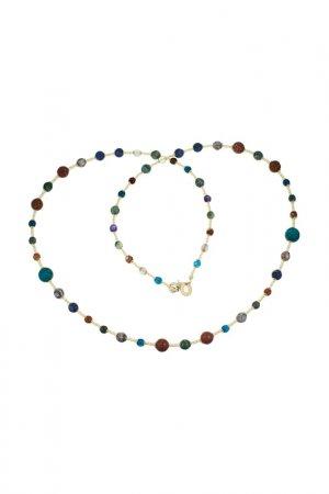 Ожерелье ZECCHIN VENICE. Цвет: синий