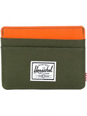 Визитница Charlie Herschel Supply Co.. Цвет: зелёный