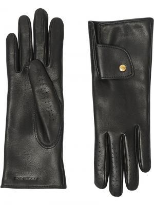 Перчатки с кашемировой подкладкой Burberry. Цвет: черный