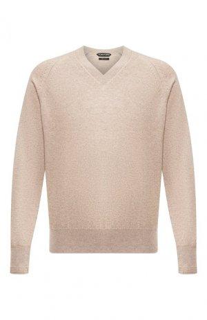 Кашемировый пуловер Tom Ford. Цвет: бежевый