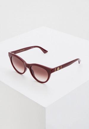 Очки солнцезащитные Gucci GG0763S 003. Цвет: бордовый